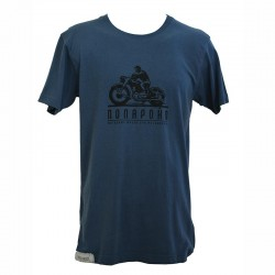 T-shirt Cyrillique Bike bleu