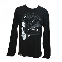 T-Shirt LS Ride To Nowhere Man - Black