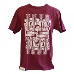 T-Shirt Soupapes - Bordeaux
