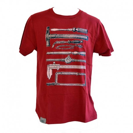 T-Shirt Short life - Burgundy