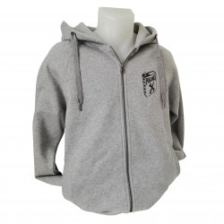 Sweat-Shirt zip Ecrous