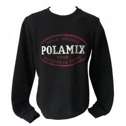 Sweat-shirt Polamix huile - Noir