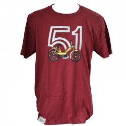 T-Shirt Motobecane 51 - burgundy