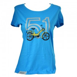 T-Shirt Motobecane 51 - bleu azur