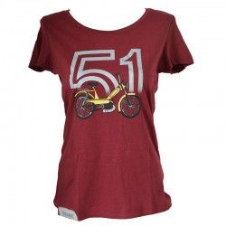 T-Shirt Motobecane 51 bordeaux