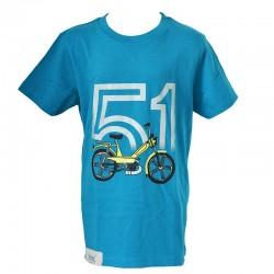 T-Shirt Motobecane 51 - ocean blue