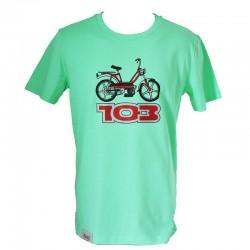 T-Shirt Peugeot 103 vert clair