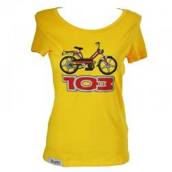 T-Shirt Peugeot 103 femme jaune