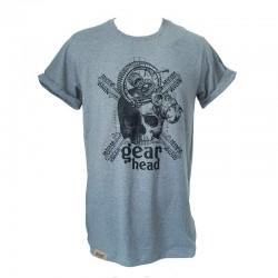 T-Shirt Gearhead Homme - Gris chiné