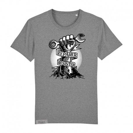 T-Shirt Réparer c'est résister - heather grey