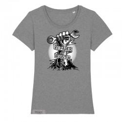 T-Shirt Réparer c'est résister - gris chiné