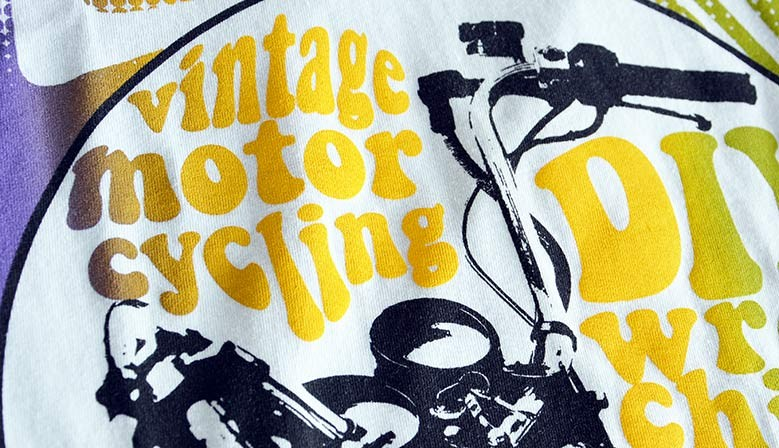 T-shirt Vintage Motorcycling